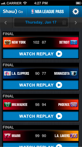 how to watch nba league pass on phone