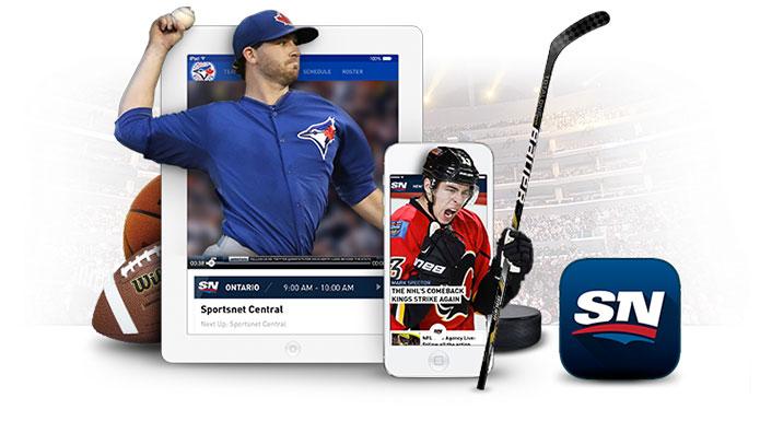 Shaw Go Sportsnet app